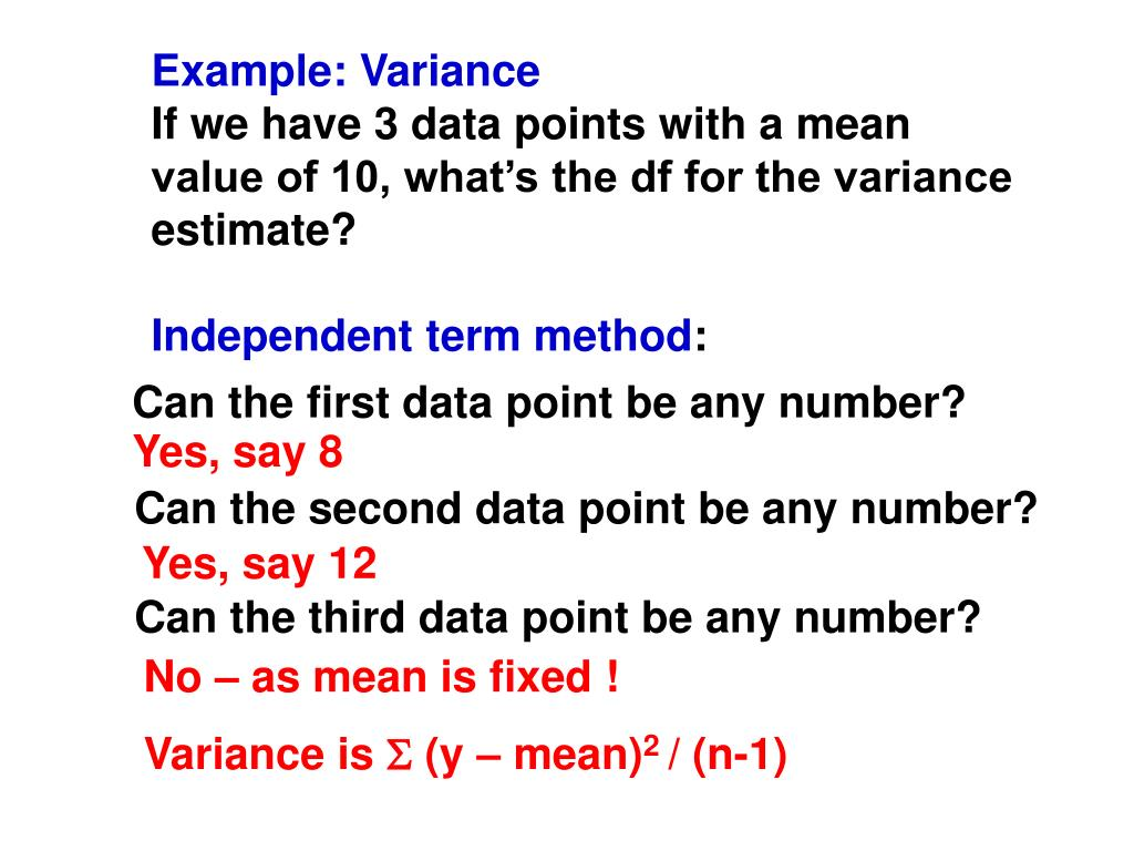 Example: Variance