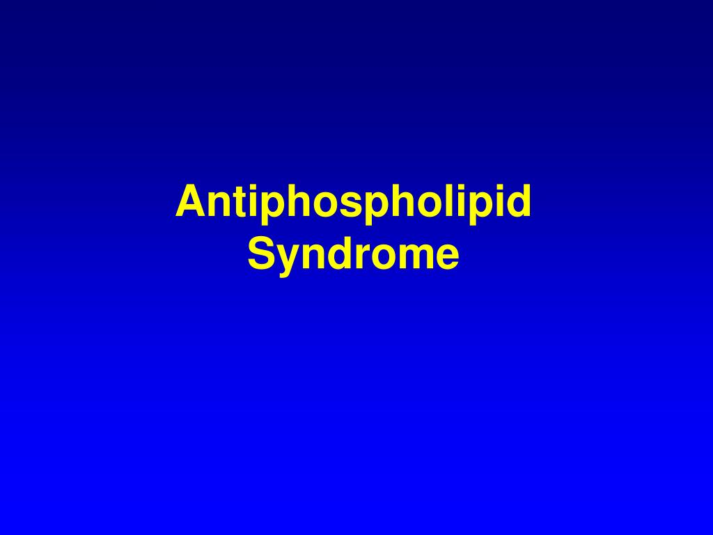 Antiphospholipid