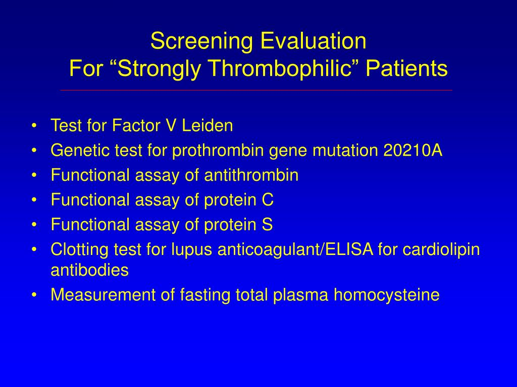 Screening Evaluation