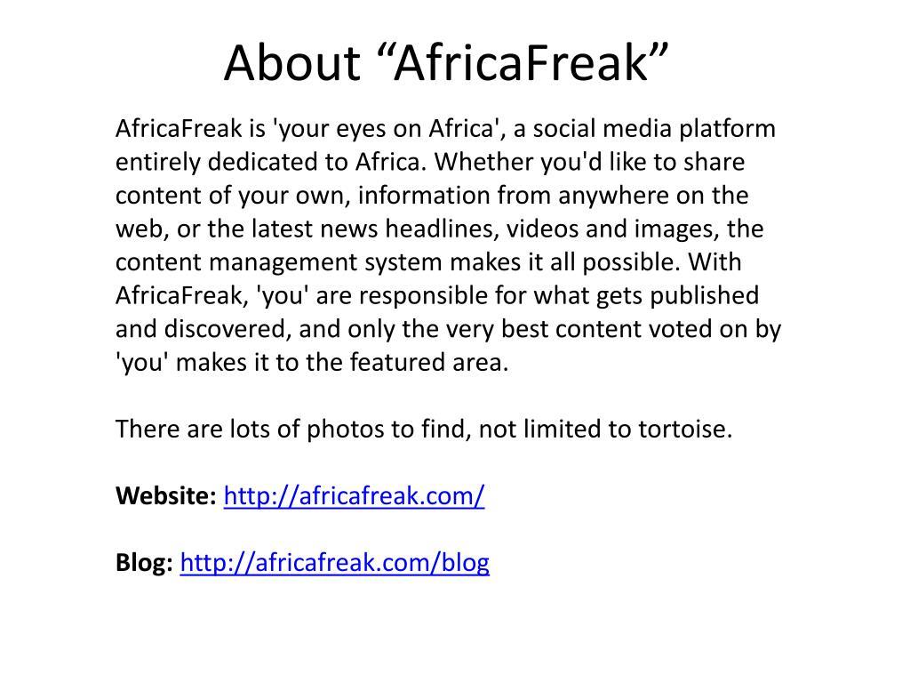"About ""AfricaFreak"""