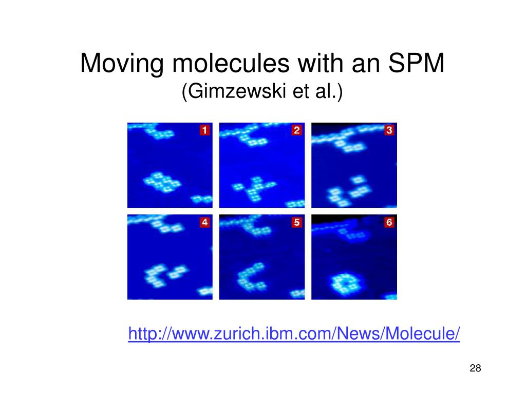 Moving molecules with an SPM