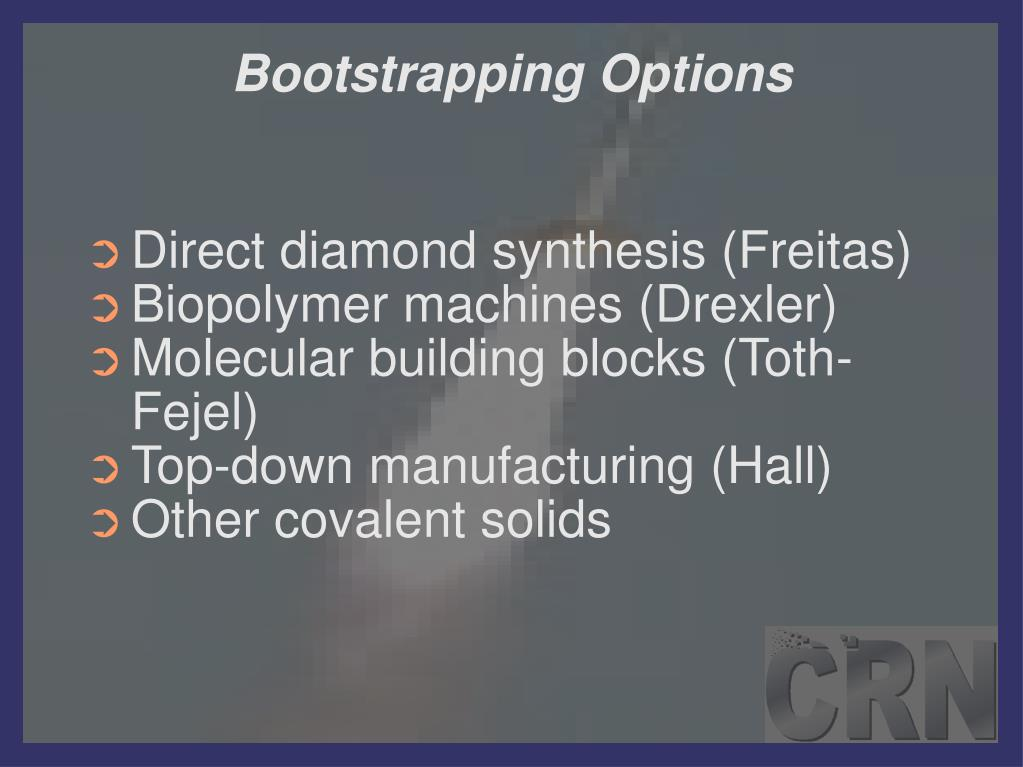 Bootstrapping Options