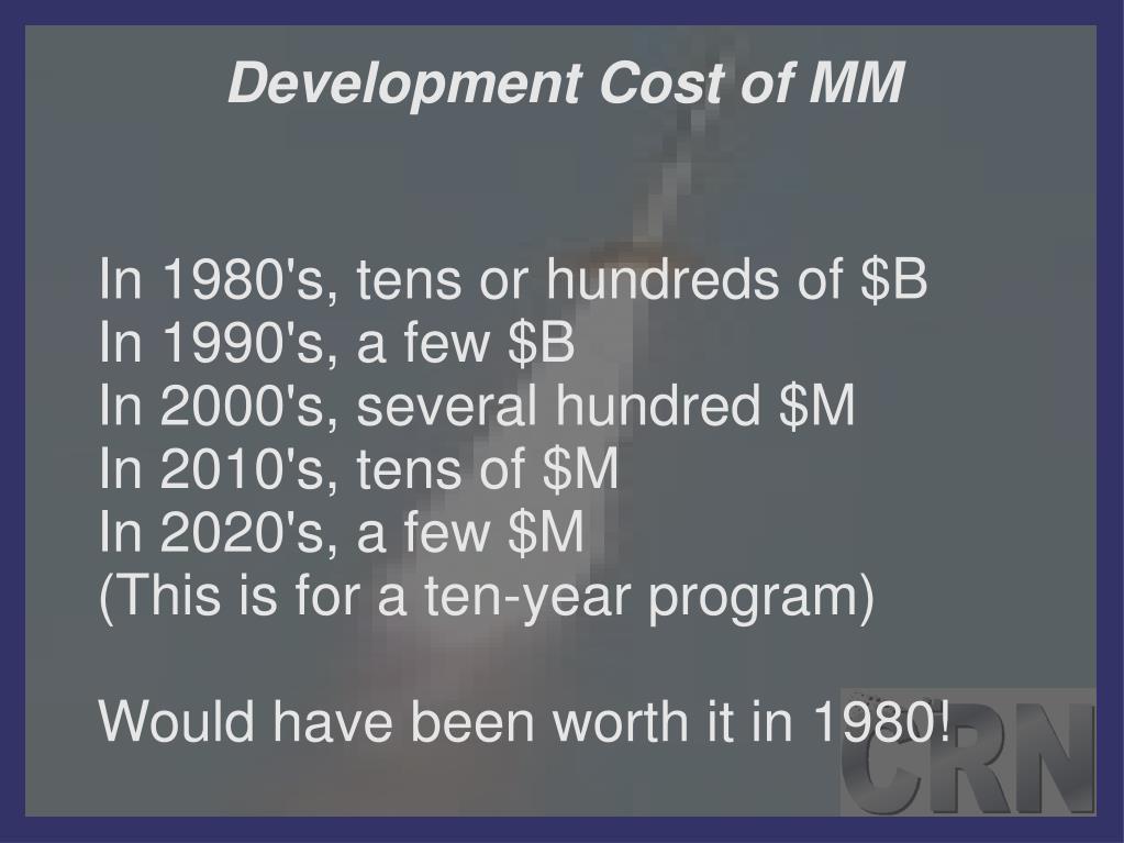 Development Cost of MM