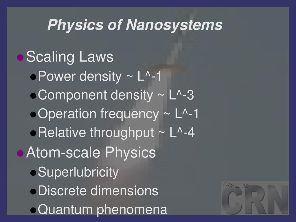 Physics of Nanosystems