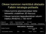oikean kammion merkitt v dilataatio fallotin tetralogia potilaalla