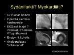 syd nifarkti myokardiitti