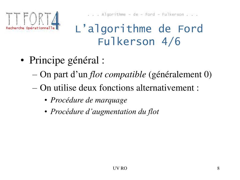 L'algorithme de Ford Fulkerson 4/6