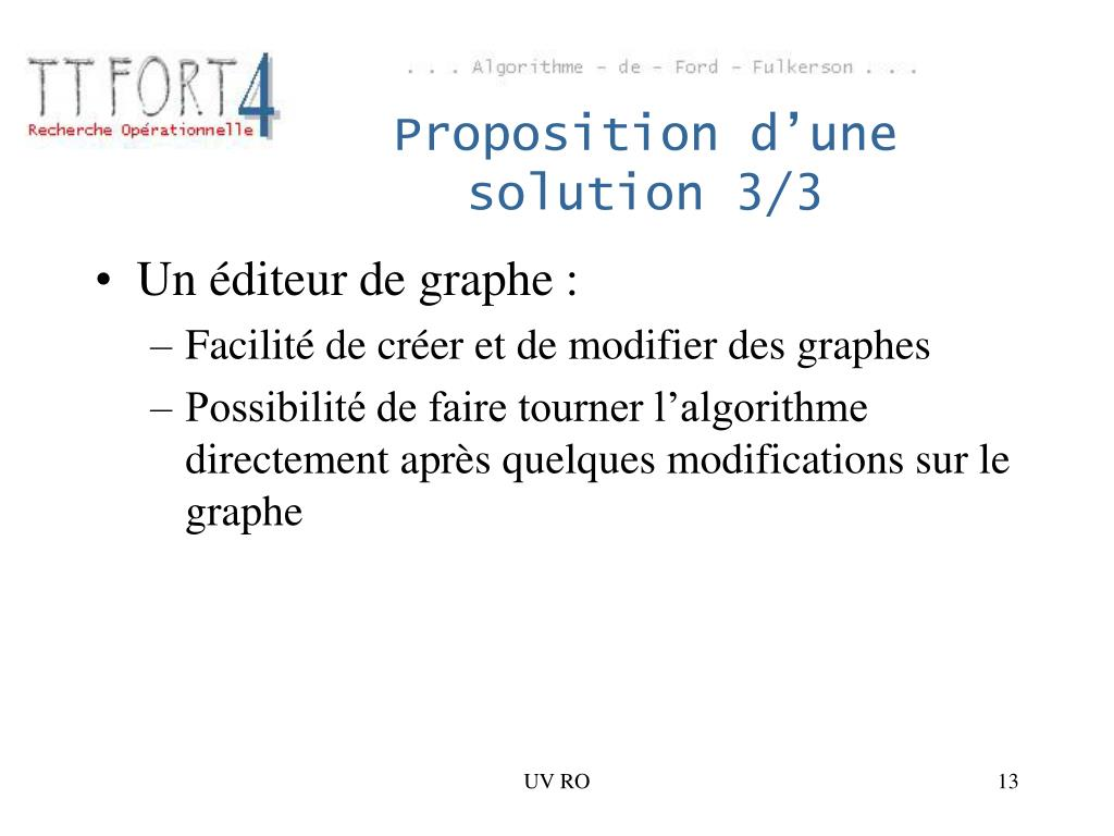 Proposition d'une solution 3/3