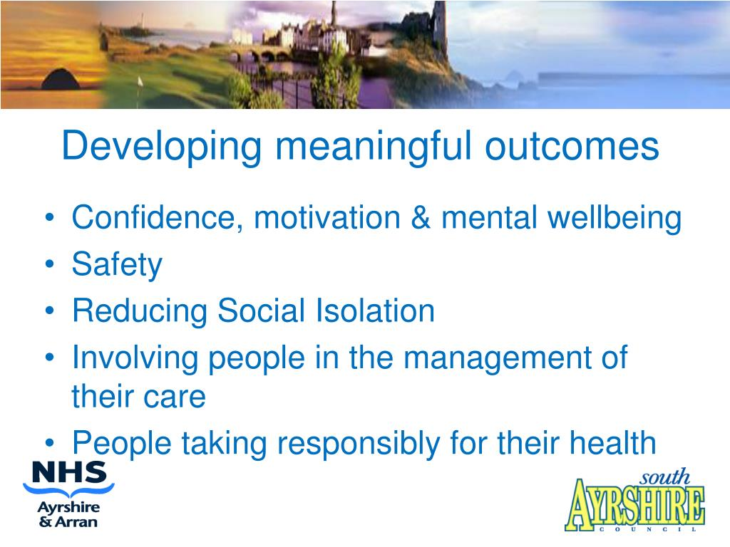 Developing meaningful outcomes