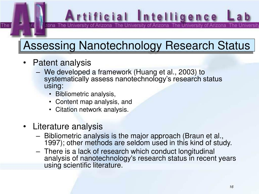 Assessing Nanotechnology Research Status