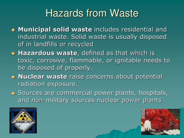 Hazards from Waste