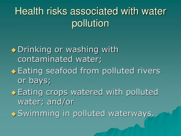 Health risks associated with water pollution