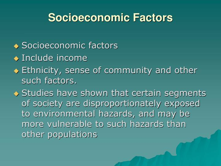 Socioeconomic Factors
