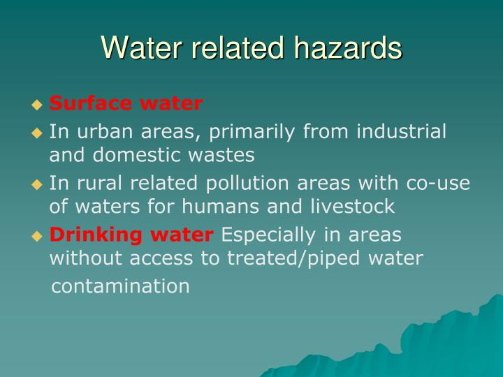 Water related hazards