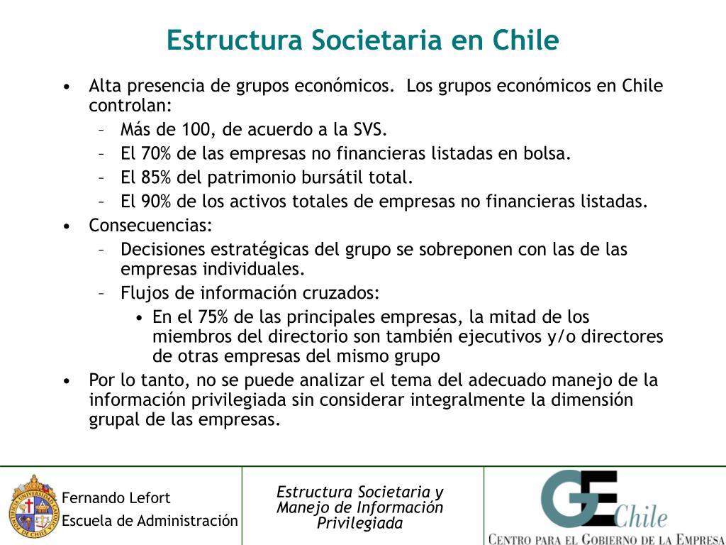 Estructura Societaria en Chile