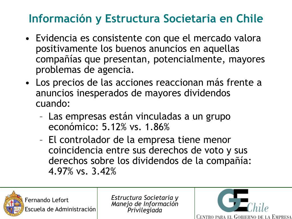 Información y Estructura Societaria en Chile