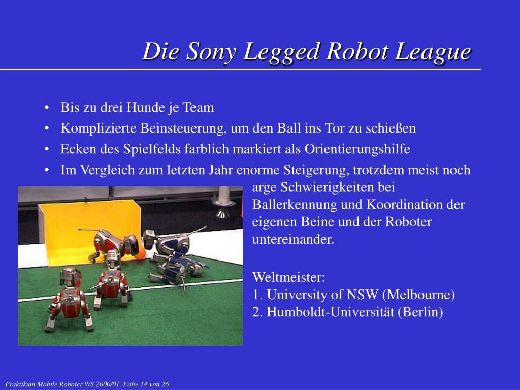 Die Sony Legged Robot League