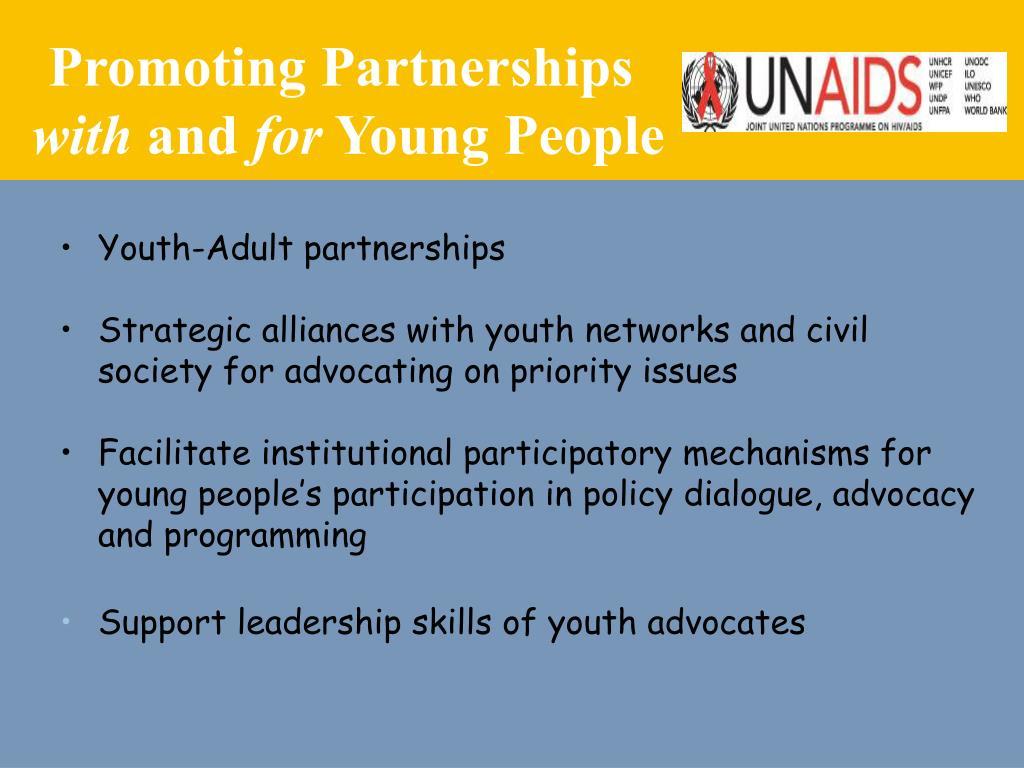 Promoting Partnerships