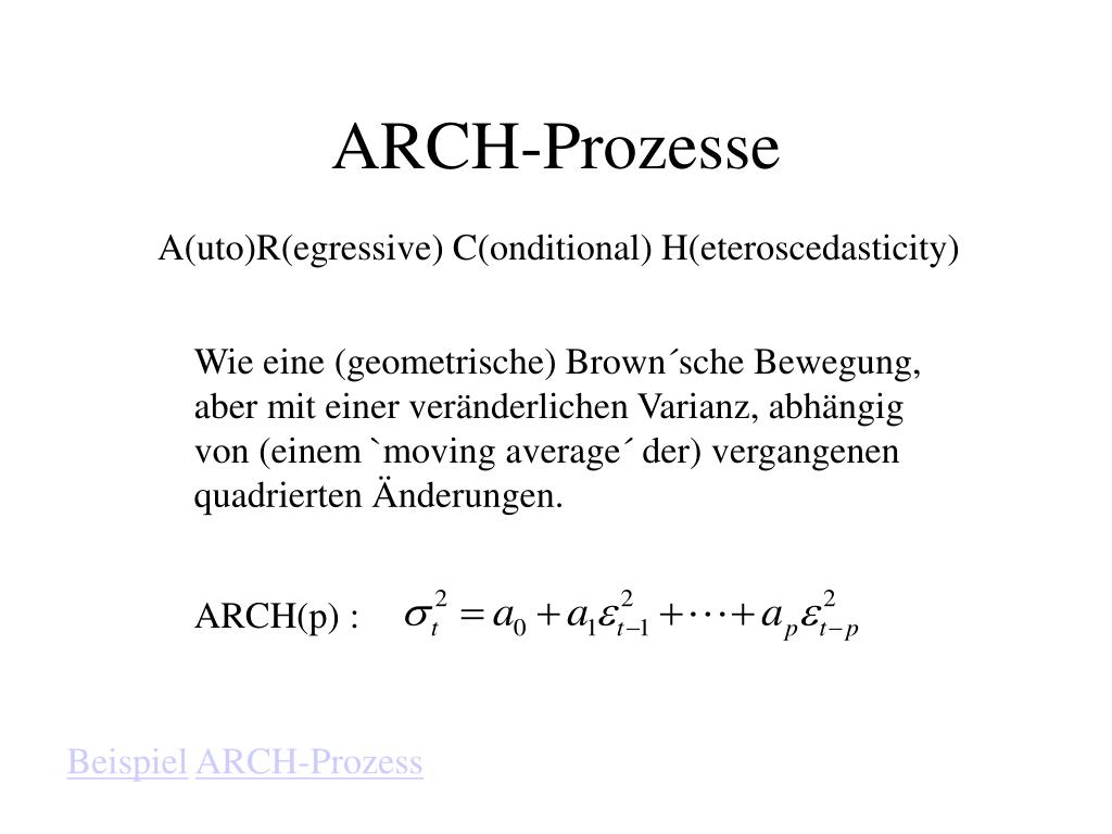 ARCH(p) :