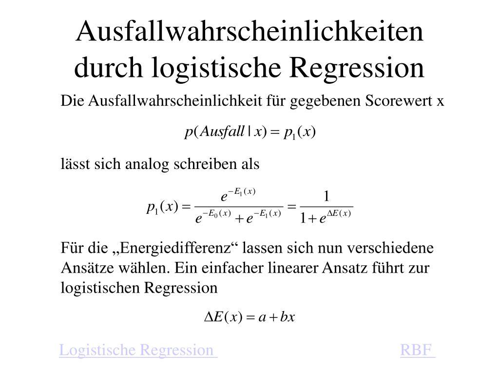 Ausfallwahrscheinlichkeiten durch logistische Regression