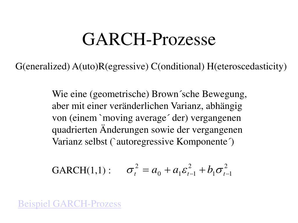 GARCH(1,1) :