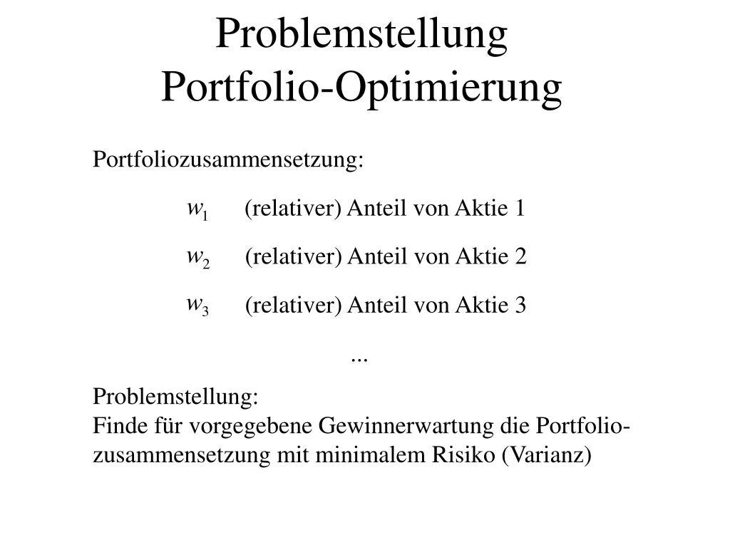 (relativer) Anteil von Aktie 3