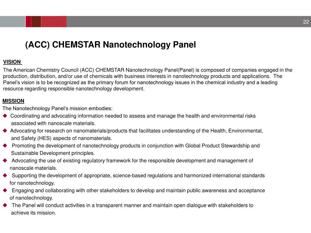 (ACC) CHEMSTAR Nanotechnology Panel