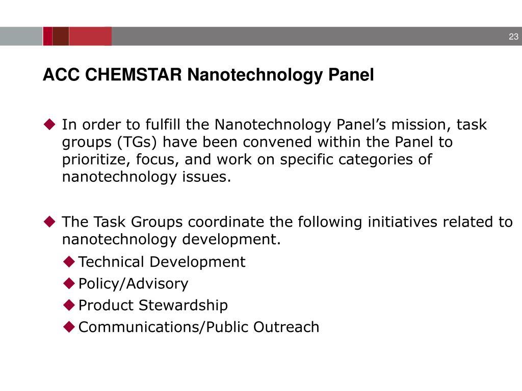 ACC CHEMSTAR Nanotechnology Panel