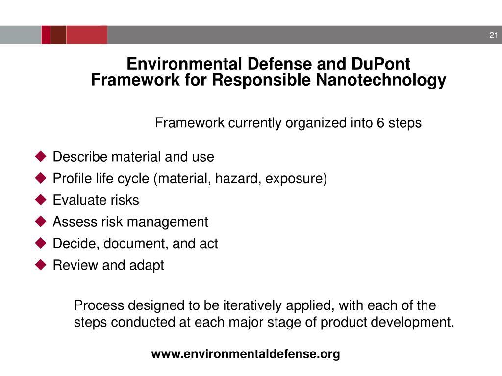 Environmental Defense and DuPont