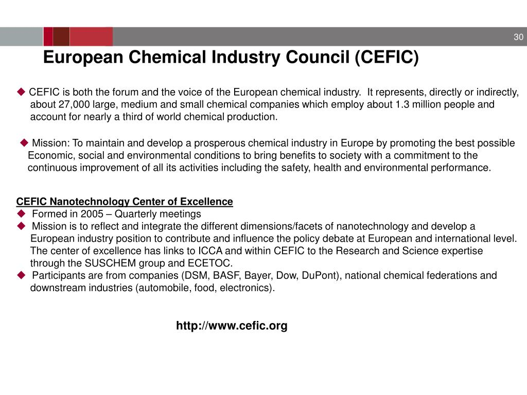 European Chemical Industry Council (CEFIC)