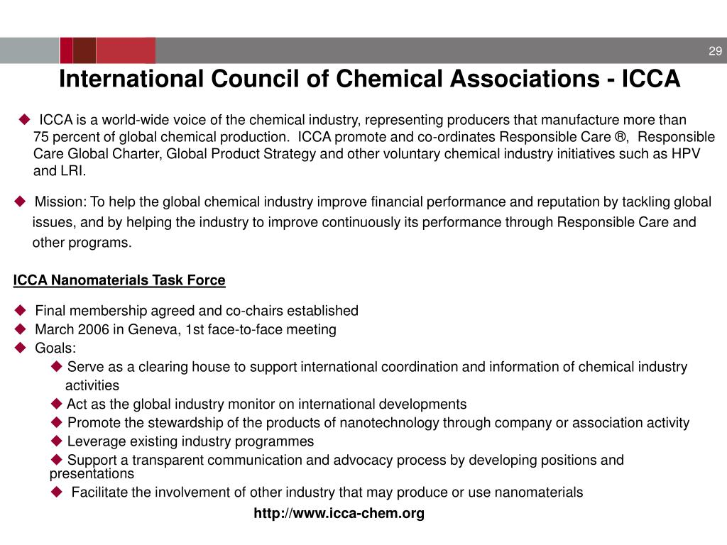 International Council of Chemical Associations - ICCA