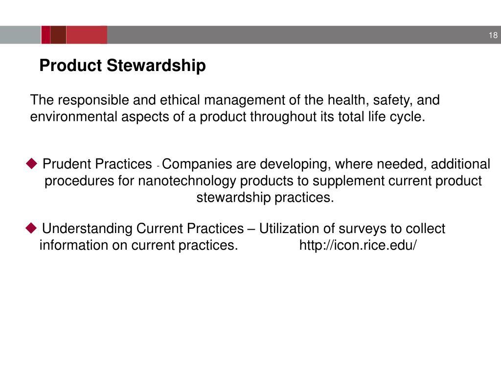 Product Stewardship