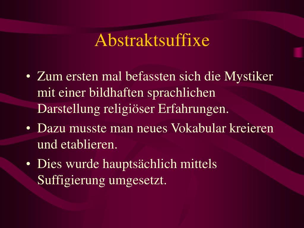 Abstraktsuffixe