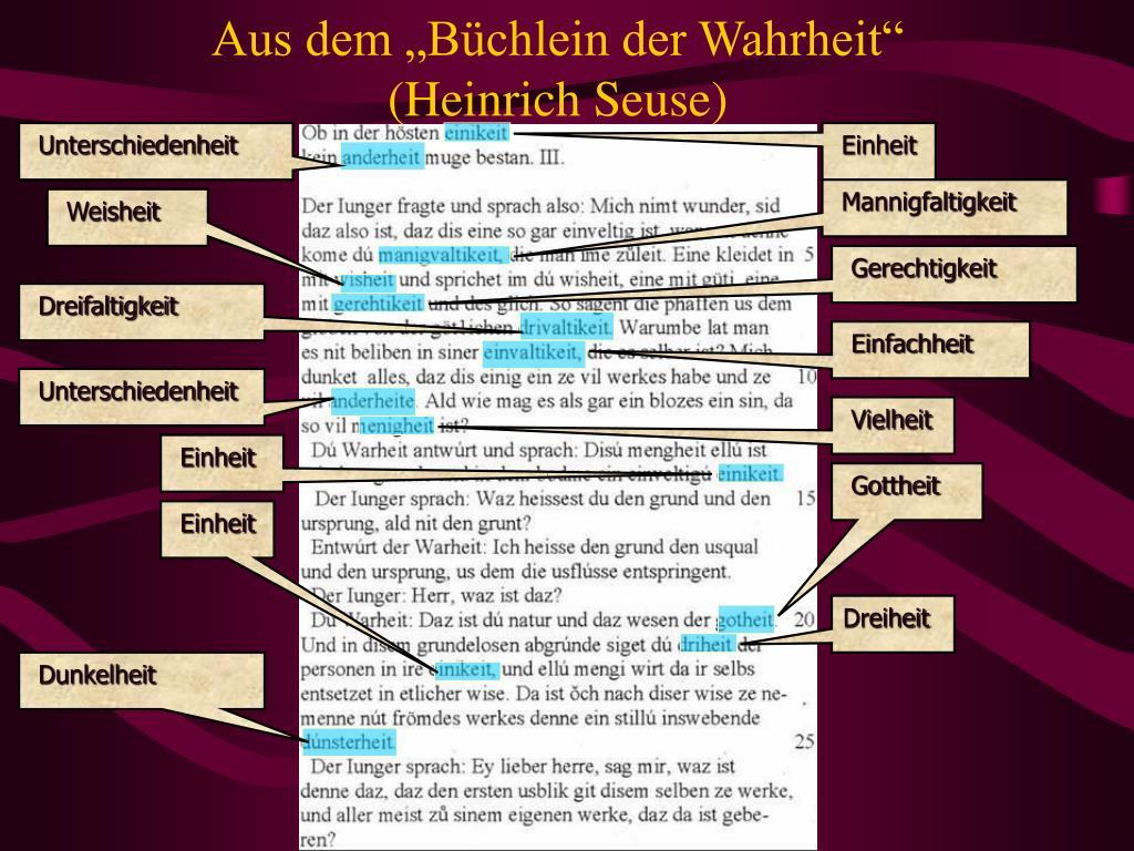 """Aus dem """"Büchlein der Wahrheit"""""""