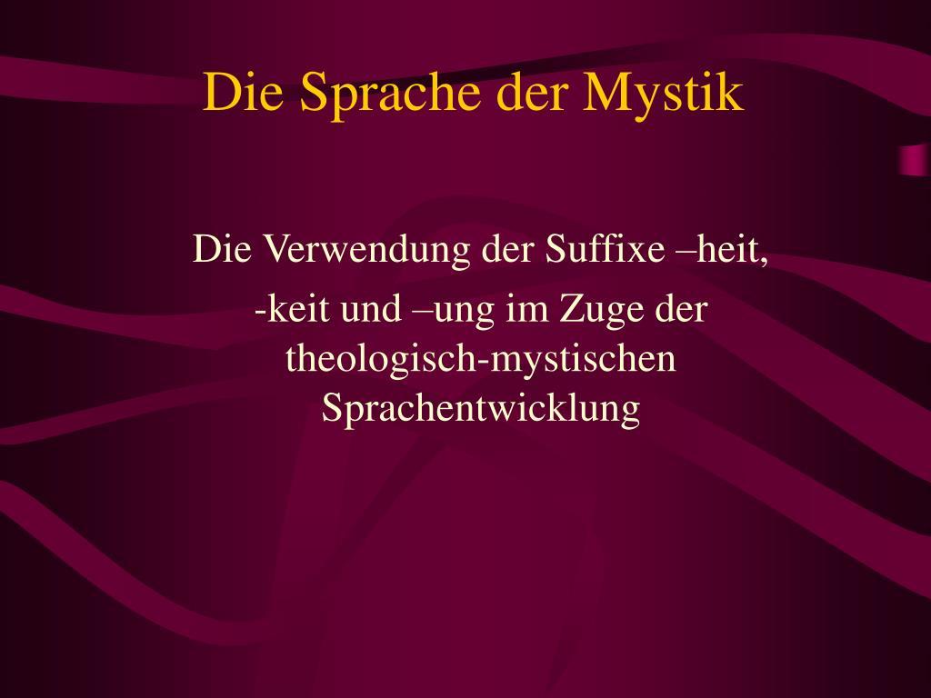 Die Sprache der Mystik
