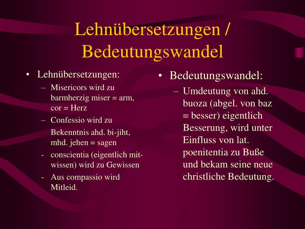 Lehnübersetzungen: