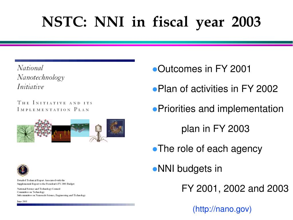 NSTC:  NNI  in  fiscal  year  2003