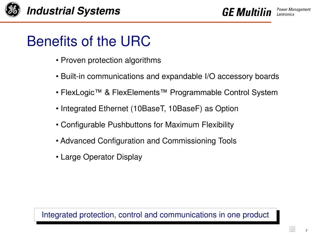 Benefits of the URC