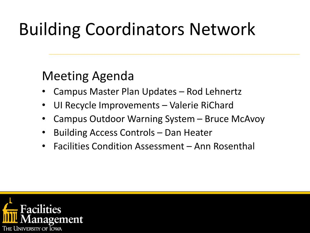 Building Coordinators Network