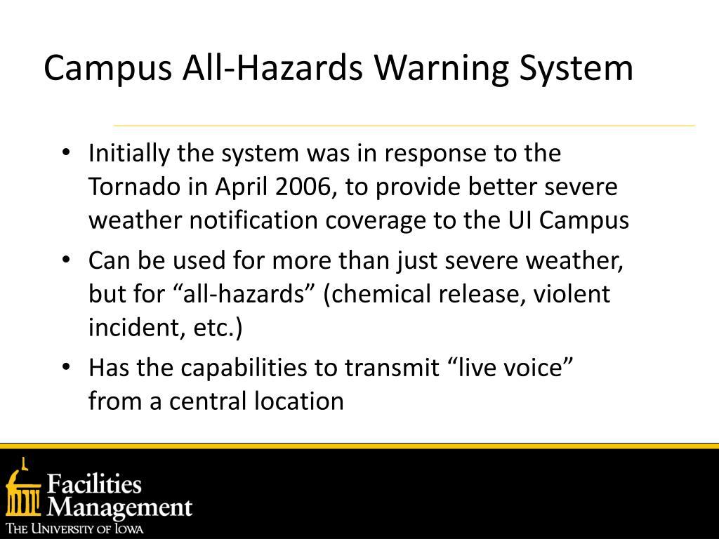 Campus All-Hazards Warning System