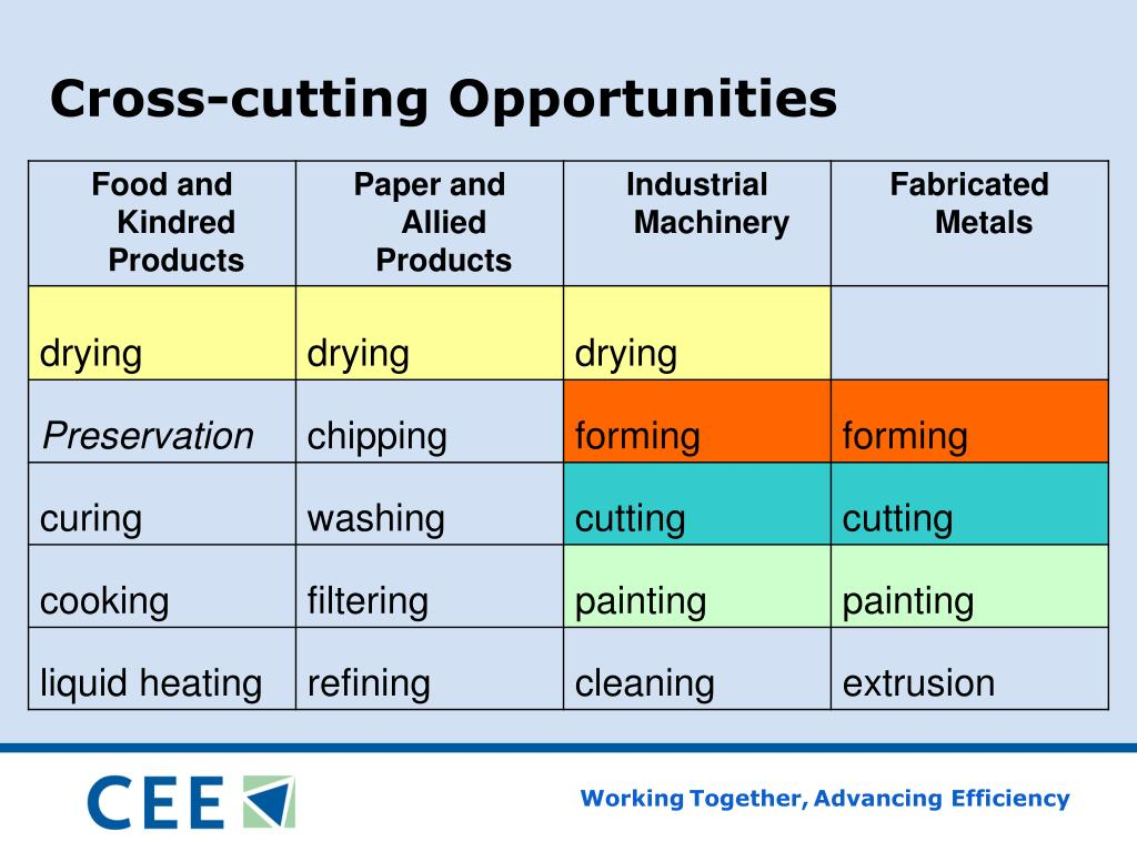 Cross-cutting Opportunities