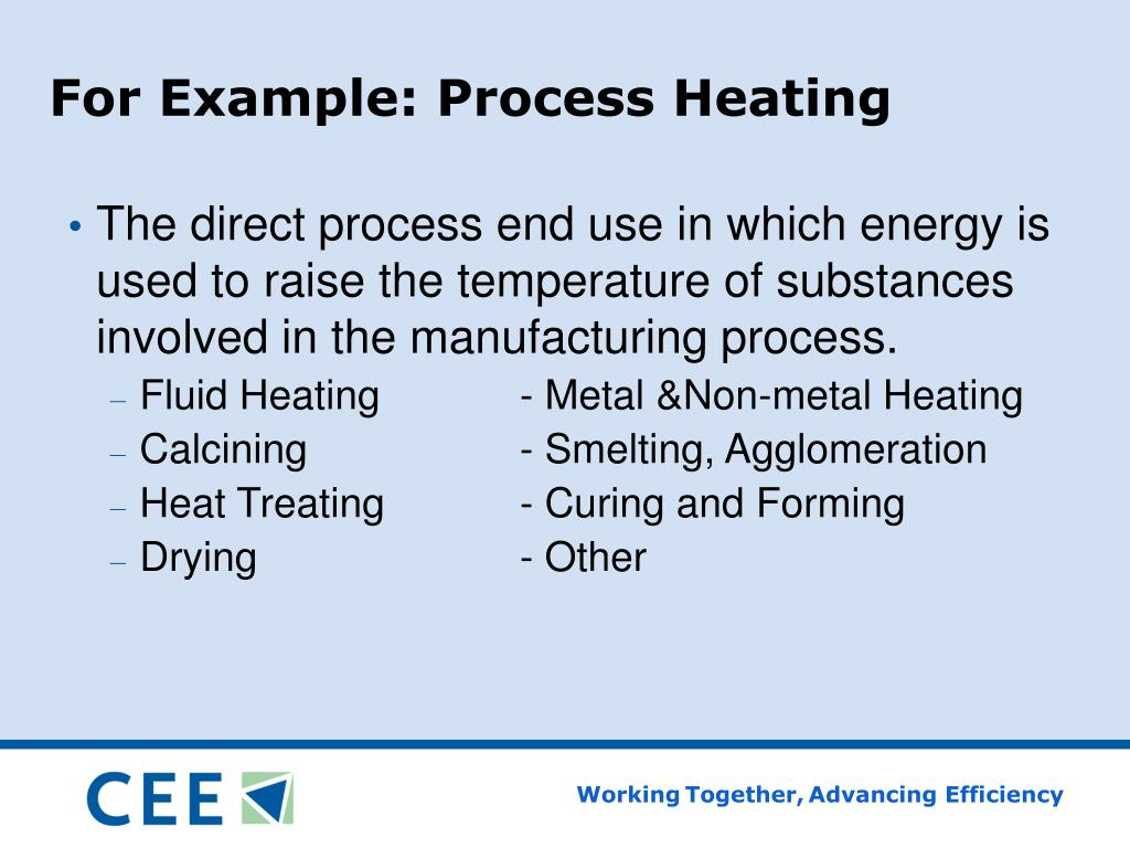 For Example: Process Heating