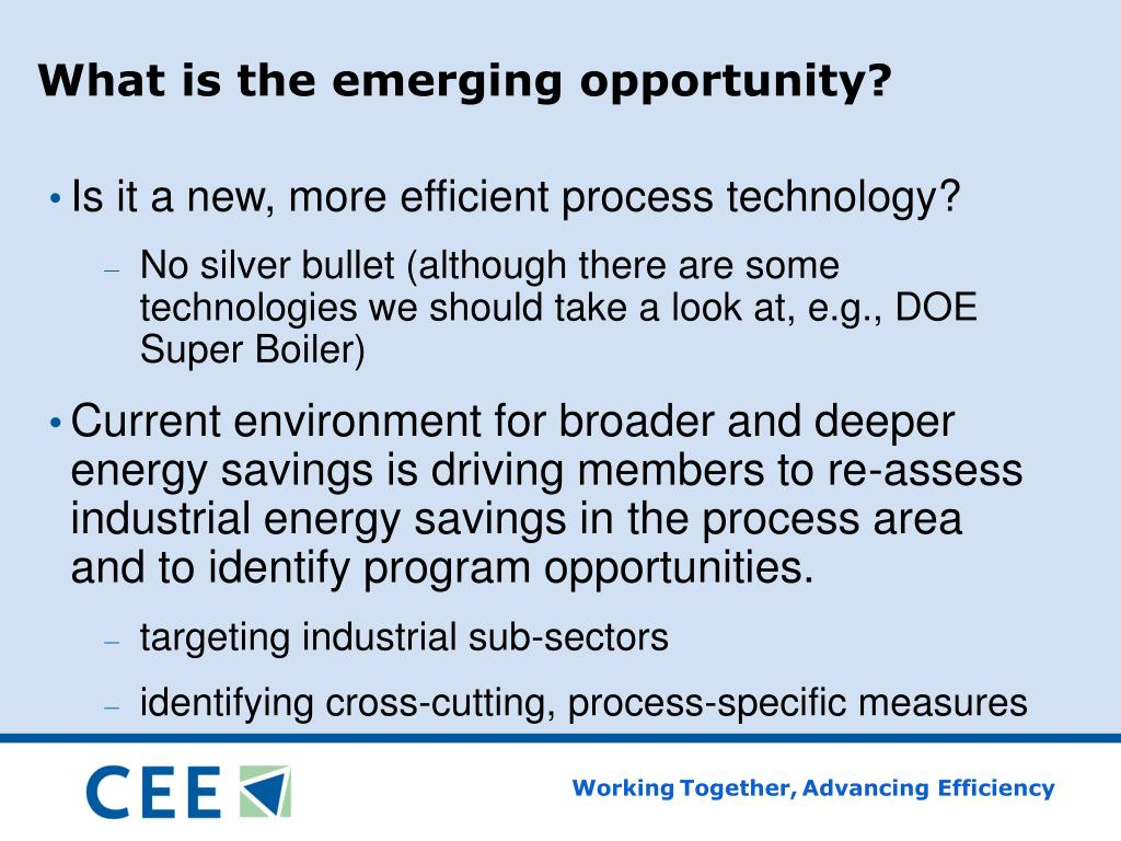 What is the emerging opportunity?