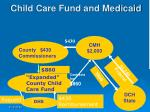 child care fund and medicaid