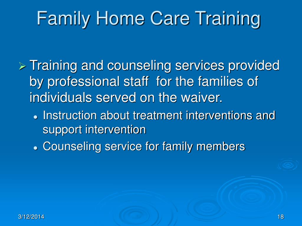 Family Home Care Training