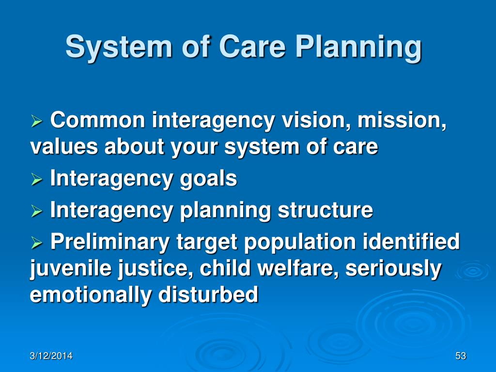 System of Care Planning