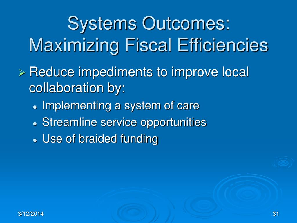 Systems Outcomes: