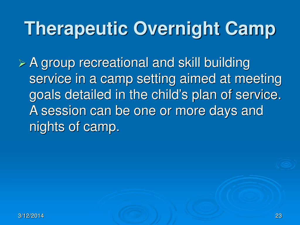 Therapeutic Overnight Camp