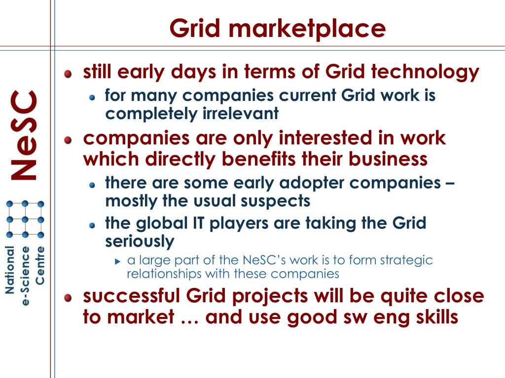 Grid marketplace