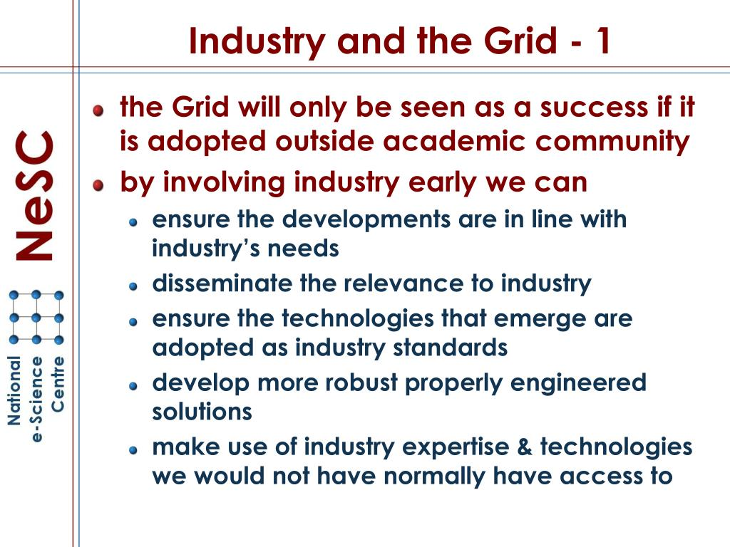 Industry and the Grid - 1